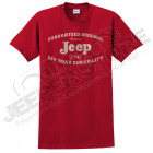 Tee shirt Jeep rouge 1941, taille L