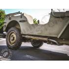 Tube d'échappement avec silencieux pour Jeep MB et CJ2A