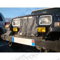 Protège radiateur extérieur en toile pour Jeep Wrangler YJ