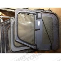 Kit de 2 portes en toiles (coin carrés) (couleur simili cuir noir) Jeep CJ7 et Wrangler YJ (sans poignées)
