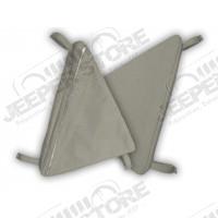 Sacs de rangement latéraux pour arceaux de sécurité (la paire) Couleur: Charcoal pour Jeep CJ5, CJ7 et Wrangler YJ