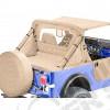 Sacs de rangement latéraux pour arceaux de sécurité (la paire) Couleur: Sable (marron/beige) pour Jeep CJ5, CJ7 et Wrangler YJ