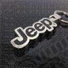 Porte clef Jeep en acier chrome et noir