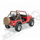 New Old Stock: Kit housses d'arceaux de sécurité, couleur: Nutmeg Jeep CJ5 et CJ7