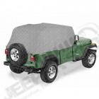 """Housse de stockage """"Trail Cover"""", Couleur: Charcoal (gris), Jeep Wrangler YJ (arceaux en arrondi à l'arrière)"""