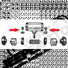 Kit de 2 vis de maintien du cylindre de roue avant OU arrière Jeep MB, M38, CJ2A, CJ3A