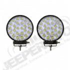Kit 2 Projecteurs de lumière LED universel (de 12V à 24V) 72Watts , diamètre: 12cm