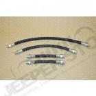 Kit de 4 flexibles de frein (3 avant et 1 arrière) pour Jeep MB, M38, M38-A1, CJ2A, CJ3A