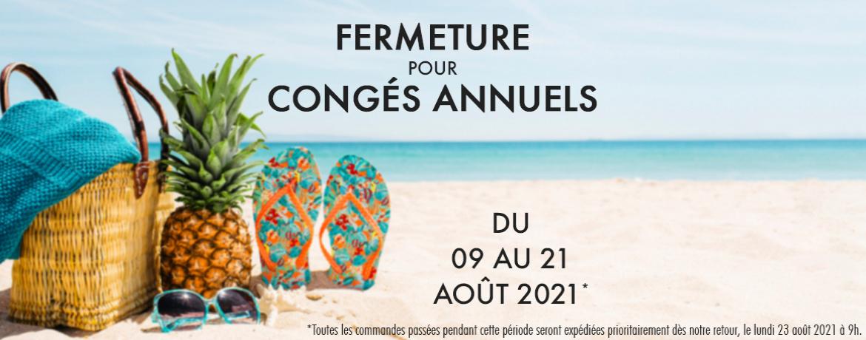 Vacance d'été 2021 chez Jeeper Store du 7 au 22 août 2021.