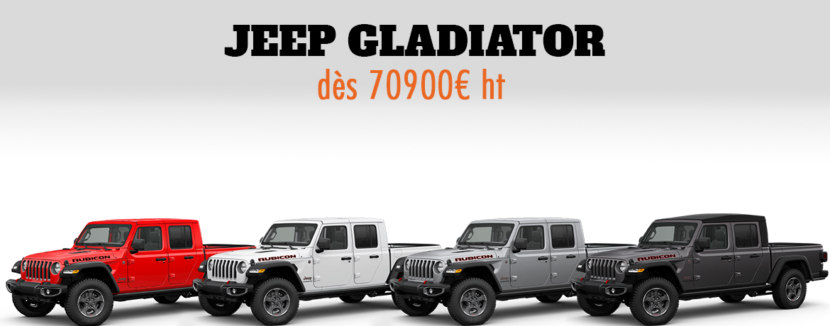 Jeep Gladiator Neuf en France - Vendu par Jeeper Store