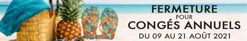 Vacances d'été chez Jeeper Store du 07 au 22 août 2021