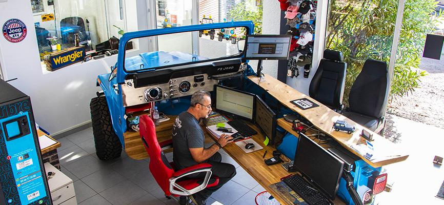 Comptoir Jeep réalisé par les préparateurs de Jeeper Store