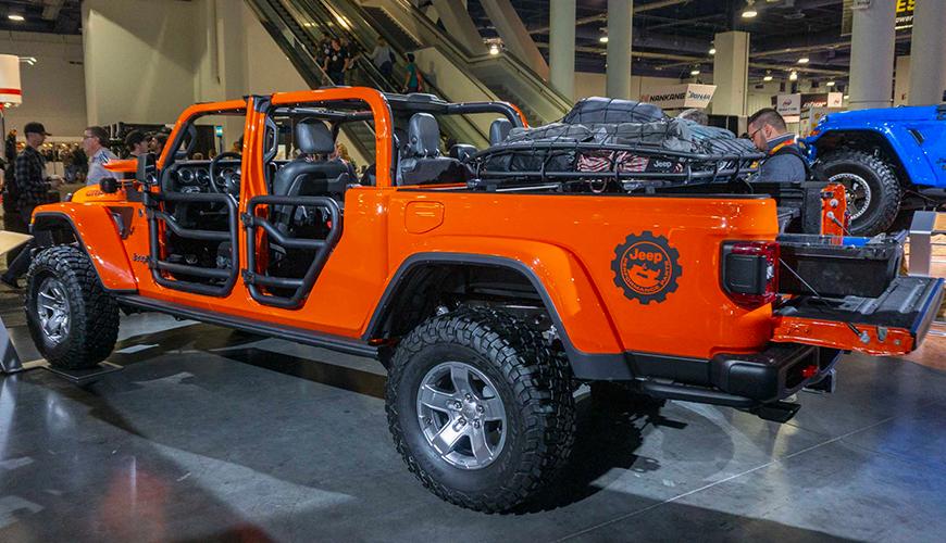 La benne du Jeep Gladiator