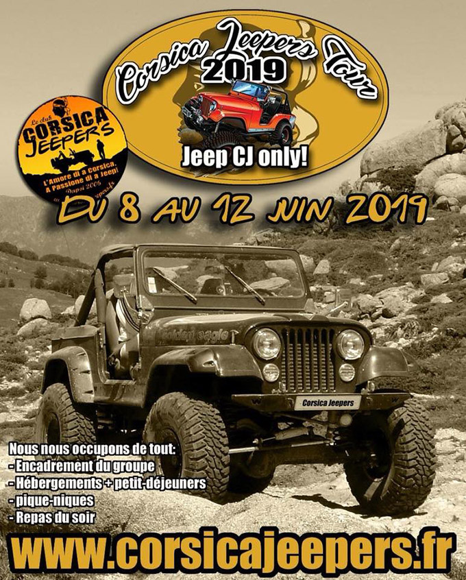 Corsica Jeeper's Tour 2019 - Jeep CJ Only !