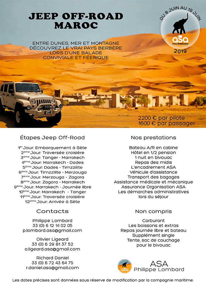 Jeep Offroad Maroc - Juin 2019