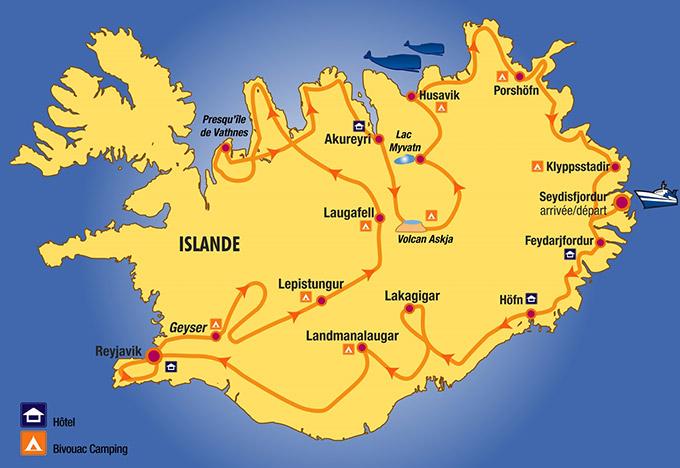 Parcours raid Islande