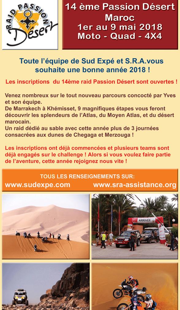Raid dans le désert du Maroc en mai 2018