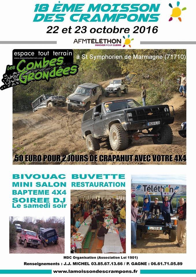Téléthon 2016 à Saint Symphorien dans le 71710 la 18eme Moisson des Crampons