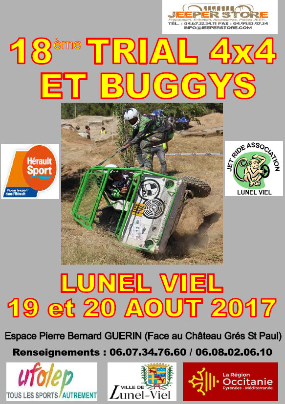18eme Trial 4x4 et Buggys à Lunel-Viel 19 et 20 aout 2017