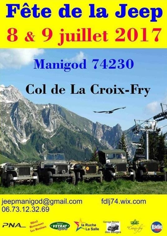 Fête de la Jeep à Col de la Croix-Fry à Manigod le 8 et 9 juillet 2017