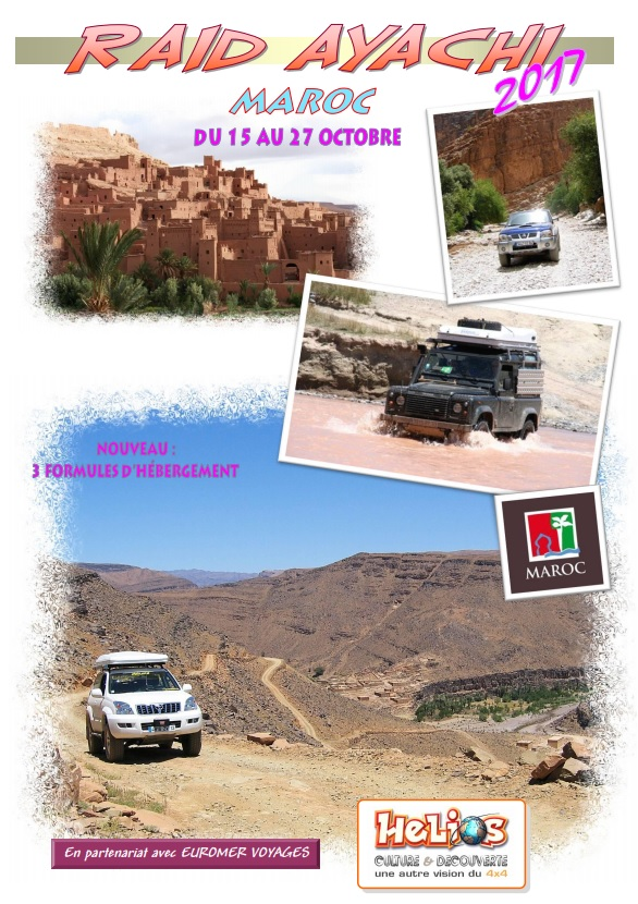 Raid au Maroc avec Helios Culture Découverte du 15 au 27 octobre 2017