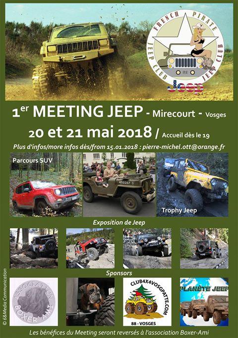 1er meeting Jeep dans les Vosges le 20 et 21 mai 2018.