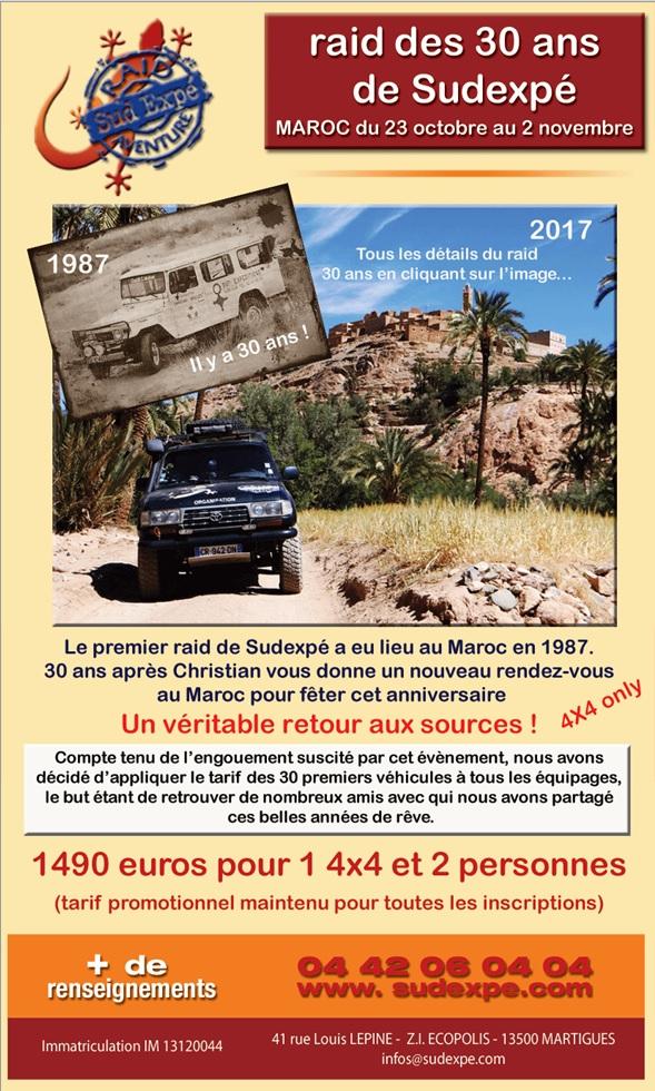 Pour les 30 ans de Sud Expé, ils vous amènent au Maroc du 23 octobre au 2 novembre 2017