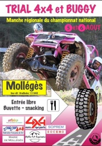 Trial 4x4 et buggy à Mollégès le 5 et 6 août 2017 dans le 13