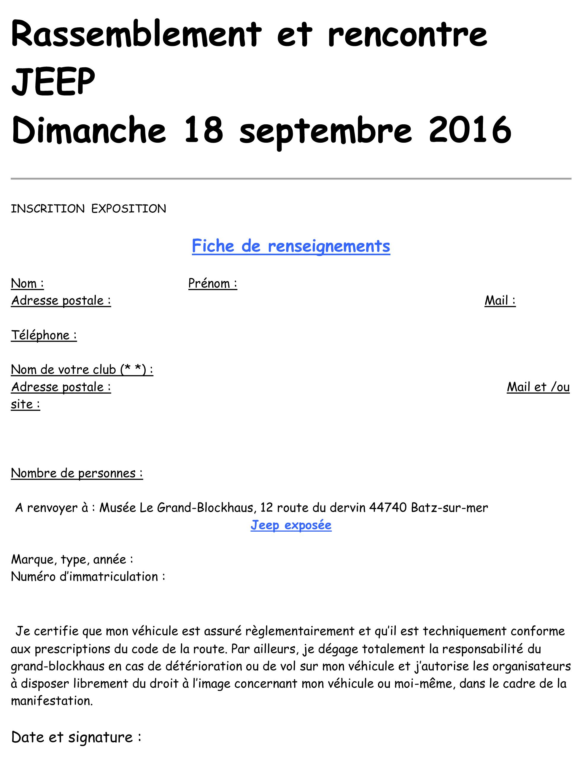 2eme rassemblement Jeep Anciennes le dimanche 18 septembre à Batz sur mer (dépt: 44) ...