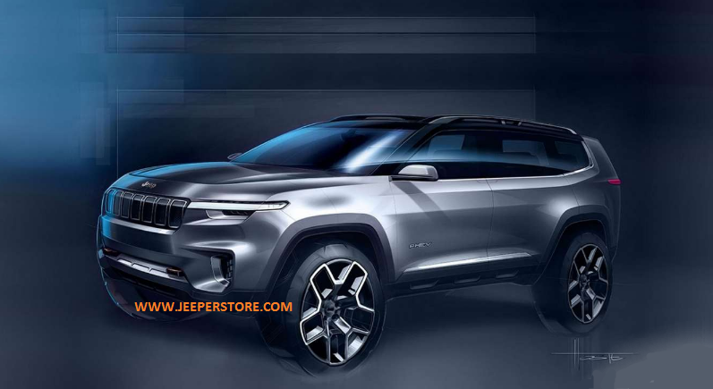 Concept Car Jeep SUV 7 places à technologie plug-in hybrid