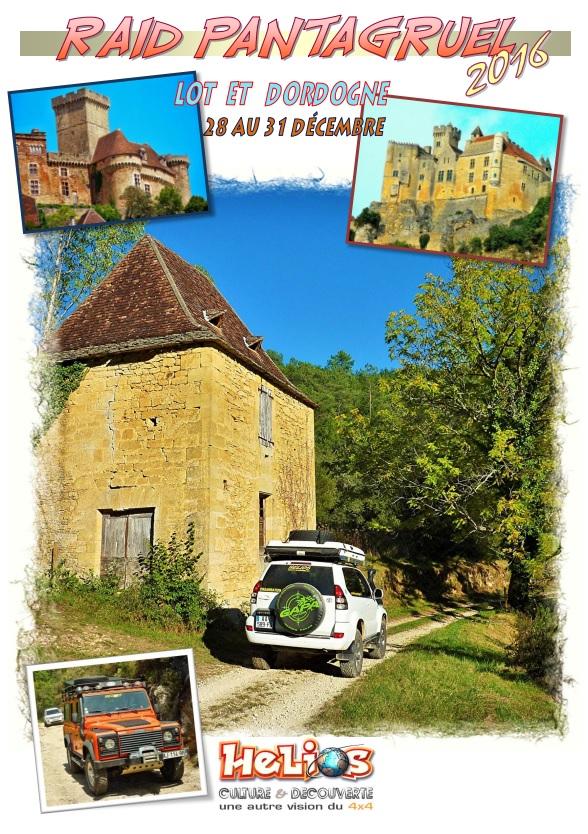 En décembre dans le Lot et Dordogne Raid Pantagruel 2016 pour 4x4