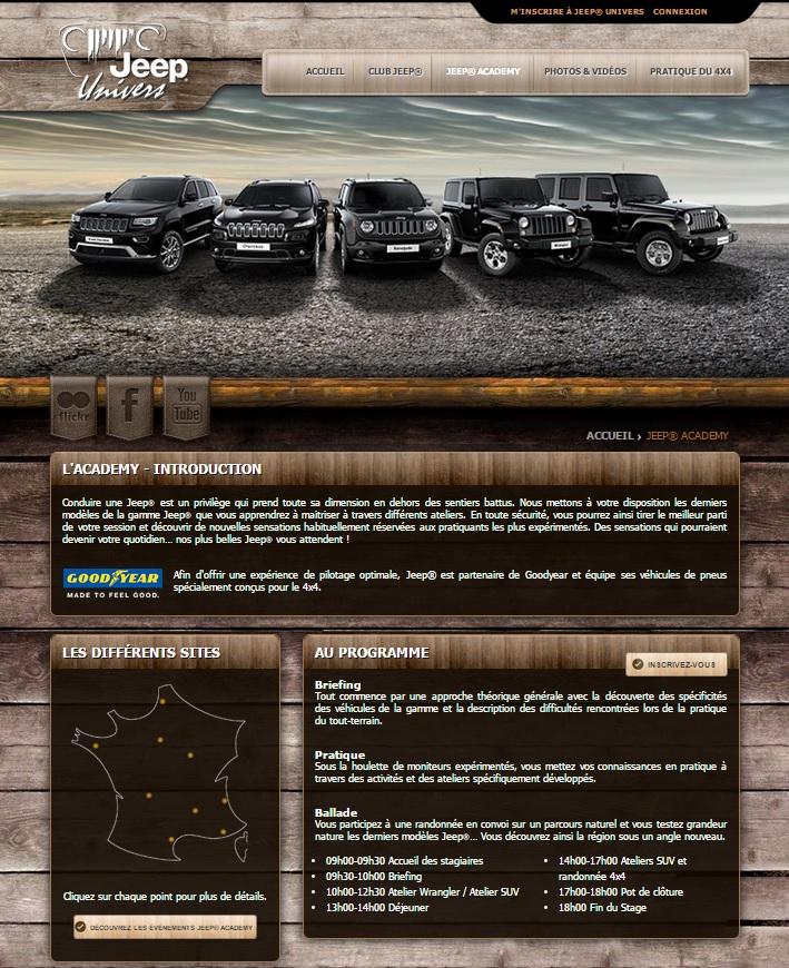Chaque année Jeep vous fait découvrir le Jeep Academy pour vous faire découvrir l'univers Jeep ...