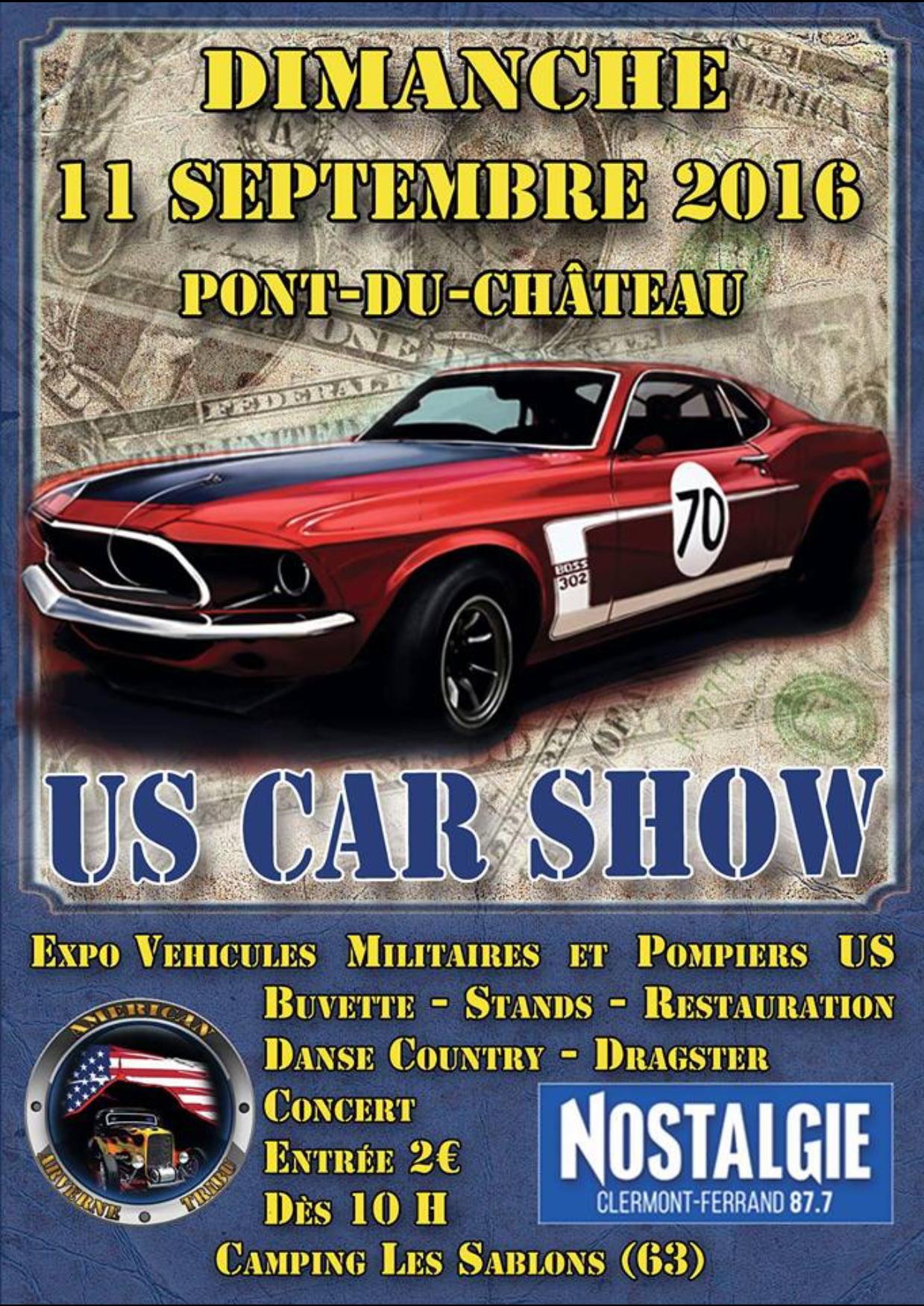 Exposition de véhicule militaire et américain le 11 septembre 2016 à Pont du Château (63)